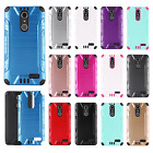 ZTE Blade Spark 4G Combat Brushed Metal HYBRID Rubber Hard Case Phone Cover