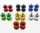 CNC 8mm Swingarm Swing Spools Spool Sliders Set For GSXR600 GSXR750 GSXR1000