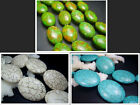 13X18mm 25X34mm 29x38mm Beautiful Oval Howlite Turquoise Spacer Beads 16""