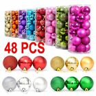 48PCS Christmas Tree Xmas Balls Decorations Baubles Party Wedding Ornament TOP