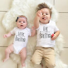 Little Brother Kid Baby Boy Romper Big Brother T shirt Tops Outfits US Stock c