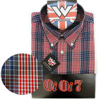 Warrior UK England Button Down Shirt LARGO Slim-Fit Skinhead Mod Retro