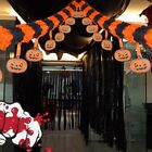 3M/4M Paper Pumpkin Garland Banner Hanging Halloween Party Favors Decoration