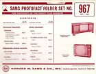 Sams Photofact Folder Set 967 - TV Radio Phonograph