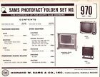 Sams Photofact Folder Set 970 - TV Radio Phonograph