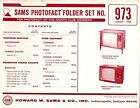 Sams Photofact Folder Set 973 - TV Radio Phonograph