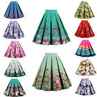 Summer Skirt Vintage Rockabilly 50's Casual Party Pinup Short Floral Swing Dress