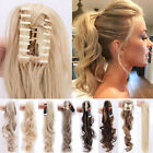 Real Clip In Pony Tail Hair Extensions 100% Thick Claw Jaw on Remy Ponytail Fk8