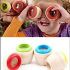 Wooden Educational Magic Kaleidoscope Learning Puzzle Toy Baby Kid Children A6g2