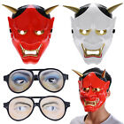creepy face mask - Japanese Hannya Noh Full Face Mask Halloween Cosplay Scary Horror+Creepy Googles