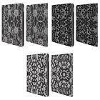 HEAD CASE DESIGNS BLACK LACE LEATHER BOOK WALLET CASE COVER FOR APPLE iPAD