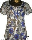 BRAND NEW NEXT COTTON SHORT SLEEVE SUMMER FLORAL BLOUSE TOPS TUNIC SIZE 8 £9.99