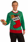 Christmas Sweater  NICE Acrylic Pullover  Green and Red  and White
