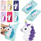 Cute Unicorn Candy Color Silicone Rubber Soft TPU Case Cover For Various Phones