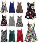 New Ladies sprinted casual sleeveles strappy camisole Swing dress Women Long Top