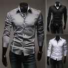 Fashion Mens Luxury Stylish Slim Fit Long Sleeve Casual Dress Shirts Tops Comfy