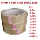 24mm x 50m Sticky Tape Packing Clear Stationery Adhesive Bulk Business Office
