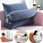 Pearl Wool Back Wedge Pillow Reading Bedrest Rest Support +Thwartwise Cushion