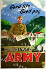 Vintage British Army Recruitment Poster A3/A4 Print