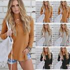 Women Long Sleeve Knitted Sweater Top Loose Cardigan Outwear Coat Oversized H2E4