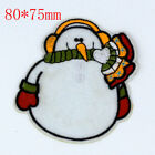 Marry Christmas Design Embroidered Cloth Iron On Patches Sewing Motif Appliques