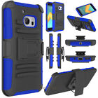 For HTC 10 / HTC One M10 Rugged Belt Clip Hybrid Rubber Holster Phone Case Cover
