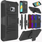 For HTC 10 / HTC One M10 Rugged Belt Clip Hybrid Rubber Holster Hard Case Cover