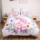 Unicorn Doona Duvet Quilt Cover Set Single King Queen Size Floral Bed Cover Set