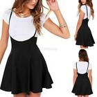 Women's Lady Pleated Skirt High Waist Plain Skater Girls Short Mini Skirt Shorts