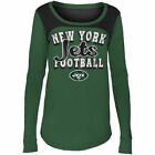 New York Jets 5Th & Ocean By New Era 17 Girls Glitter Football  T-Shirt - Green