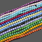 6mm 8mm 10mm 12mm Top Smooth Crack Crystal Quartz Round Beads 15.5""