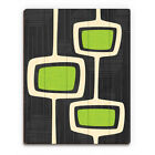 'Retro Green Bubble Towers' Wood Wall Art