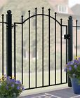 Weston Ball Top Garden Gate 850mm To 980mm Gap X 1041mm H Galvanised Iron Metal