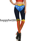 Women 3D Printed Pants Sport Wonder Woman Full Printed Cosplay Yoga Leggings