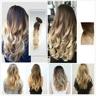 Ombre Synthetic Clip in Hair Extensions, One Piece, Full Head