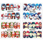 12Sheets Trendy 3D Nail Art Sticker Water Transfer Stickers Christmas Decals Tip