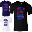 Tesco Value Halloween Costume Men's T-Shirt BLOOD DRIPPING Fancy Dress Party Top
