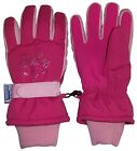 NICE CAPS Girls Kids Youth Waterproof Thinsulate Floral Ski Snow Winter Gloves