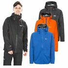 DLX Mens Rain Jacket Waterproof Hooded Wind Storm Coat in Black Blue