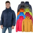Trespass Romano Mens Down Jacket with Hood Packaway Warm Winter Puffer