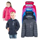 Trespass Morley Kids Down Jacket with Hood Warm  Packaway For Winter
