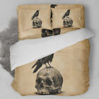 Skull Duvet Cover Pillow Cases Vintage Style Quilt Cover Bedding Set All Sizes