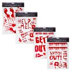 NEW HALLOWEEN BLOODY WINDOW STICKERS HANDS HANDPRINTS RE MOVABLE AND RE USABLE