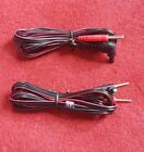1 Pair (2)  2.35mm Shielded Head TENS EMS Electrode Lead Wires EMS,TENS E-Stim