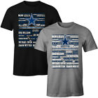 Dallas Cowboys All Time Greatest Players Names T- Shirt