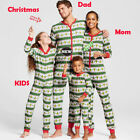 USStock Family Matching Xmas Pajamas Set Women Kid Adult PJs Sleepwear Nightwear