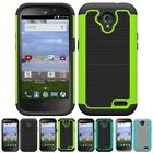 For ZTE Stratos LTE Z819C / Allstar Z818L Hybrid Grid Armor Case Phone Cover