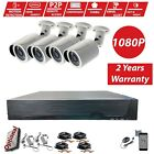 CCTV Full HD 5in1 P2P DVR 2.4MP 1080P OUTDOOR Camera Home Security System Kit