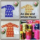 NEW Vietnamese Chinese Traditional Dress for Kids  Boys AO DAI TRE EM TET VIET