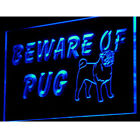 "16""x12"" i840-b Beware of Pug Dog Pet Shop Logo Neon Sign"